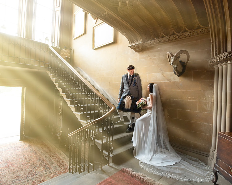 duns castle wedding