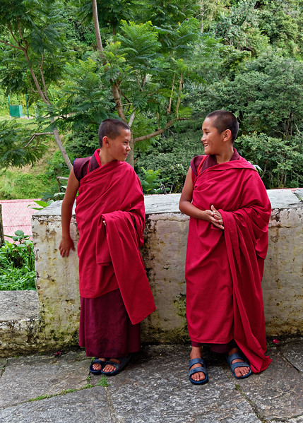 Young monks outside Trongsa Dzong