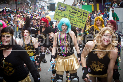 Big Easy Rollergirls - Tucks - Mardi Gras 2013