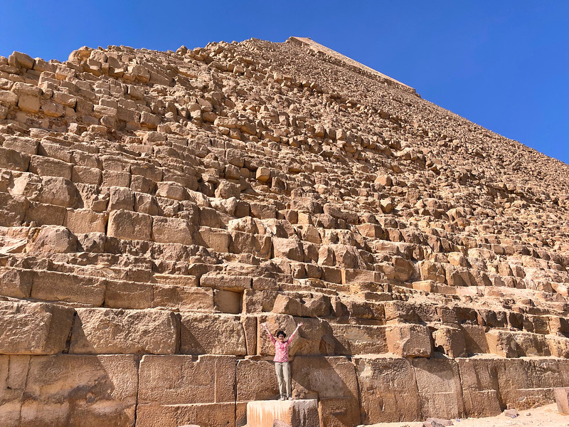 Little me and the Pyramid of Khafre