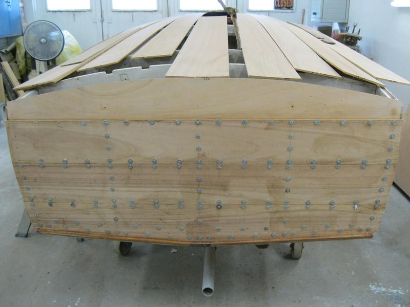 New transom planks installed.