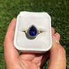7.00ctw Tanzanite and Diamond Halo Ring 25