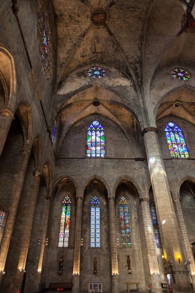 The interior of the Santa Maria del Mar church.