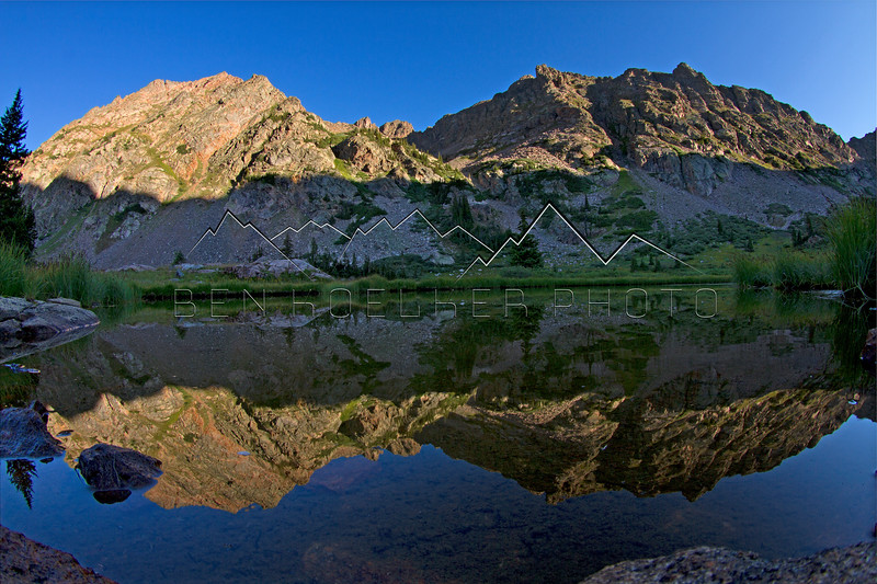 Reflection in a tarn in the Gore Range, CO