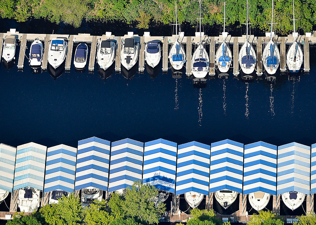 . Boats along the St. Croix. (Pioneer Press: Ben Garvin)