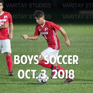 Prairie Boys Soccer 10-3-2018