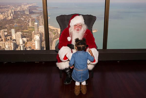 Events-Santa visits The Signature Room