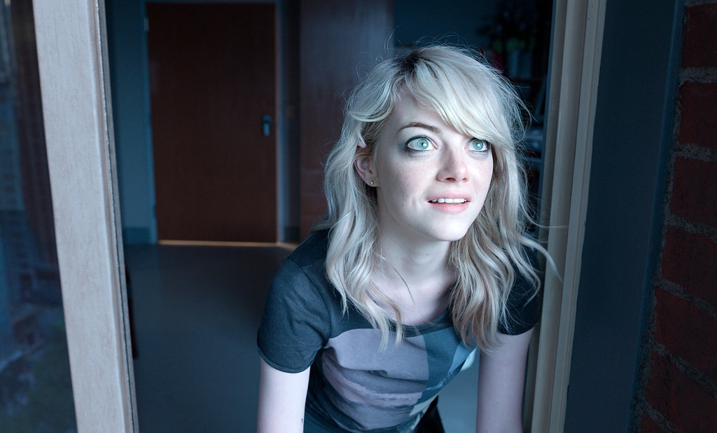 """. In this image released by Fox Searchlight Pictures, Emma Stone appears in a scene from \""""Birdman.\"""" Stone was nominated for a Golden Globe for best supporting actress in a drama for her role in the film on Thursday, Dec. 11, 2014. The 72nd annual Golden Globe awards will air on NBC on Sunday, Jan. 11. (AP Photo/Fox Searchlight, Alison Rosa)"""
