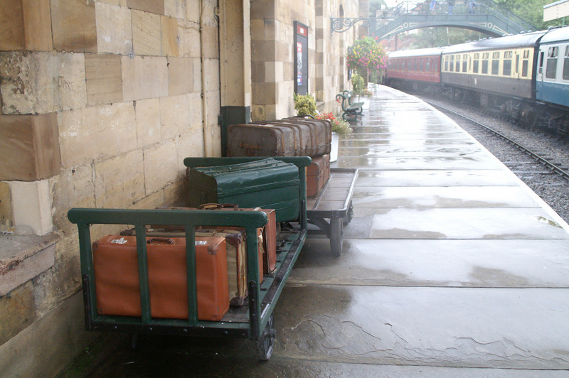 Suitcases to be taken on the train  - North Yorkshire Moors Railway