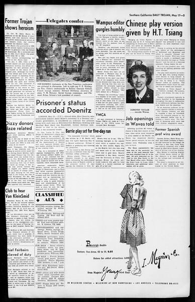 Daily Trojan, Vol. 36, No. 124, May 17, 1945