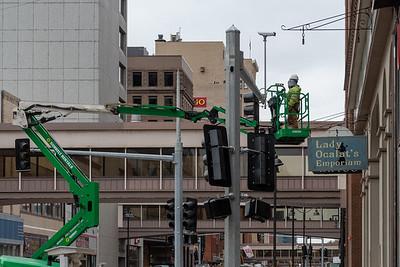 2020 10 19: Superior St. Walk Construction