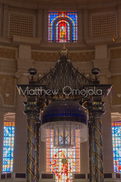 Main altar canopy of the Basilica of Our Lady of Peace Basilique Notre Dame de la Paix Yamoussoukro Ivory Coast Cote d'Ivoire West Africa. The largest church in the world.