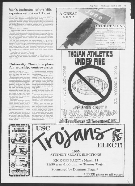 Daily Trojan, Vol. 98, No. 37, March 06, 1985