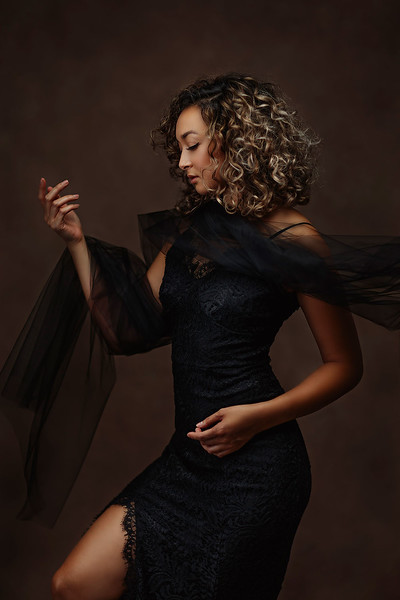Creative studio fine art portrait session | Top Sacramento, California portrait photographer Sergey Bidun Photography