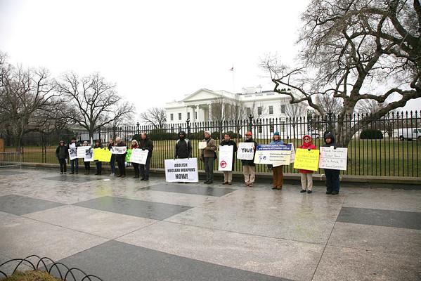Friday Vigil at The White House Feb 22, 2013