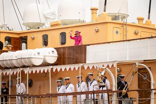 Dronnings ankomst til Sønderborg