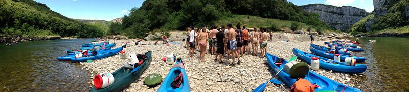 Kayaking l'Ardèche