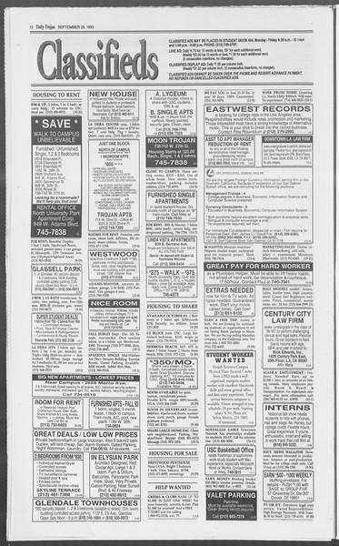 Daily Trojan, Vol. 121, No. 21, September 29, 1993