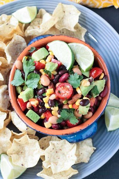 Vegan Mexican recipes - Smoky Cilantro Lime Bean Dip