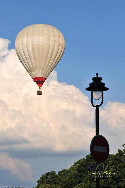 Hot Air ballon over Vilnius.