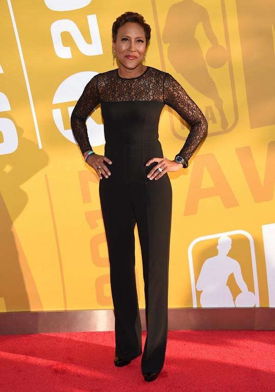 . Robin Roberts arrives at the NBA Awards at Basketball City at Pier 36 on Monday, June 26, 2017, in New York. (Photo by Evan Agostini/Invision/AP)