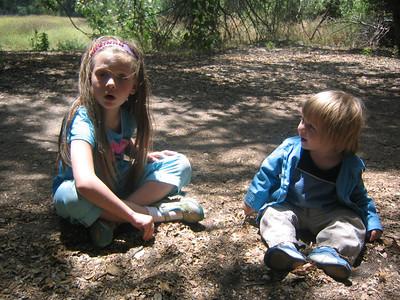 Jackson, Katie and a Ladybug