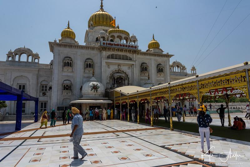 Gurdwara Bangla Sahib, a Sikh temple in New Delhi.