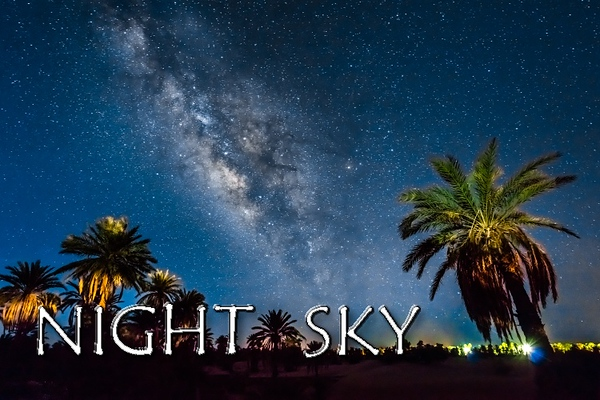 Night sky with Milky Way, rising & setting Moon offers magical experience. Timelapse enables to see the amazing movement above us.