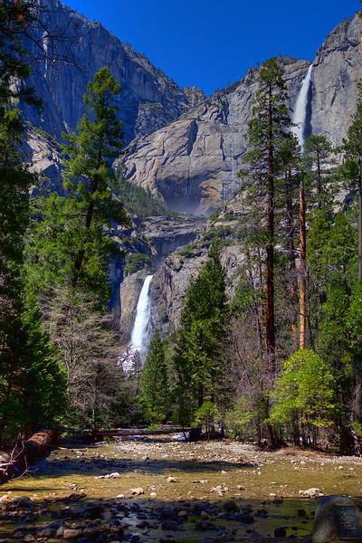 YOS-180425-0005 Yosemite Falls and Yosemite Creek