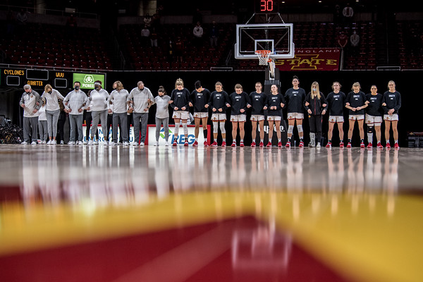ISU WBB vs WVU senior night 02/24/21