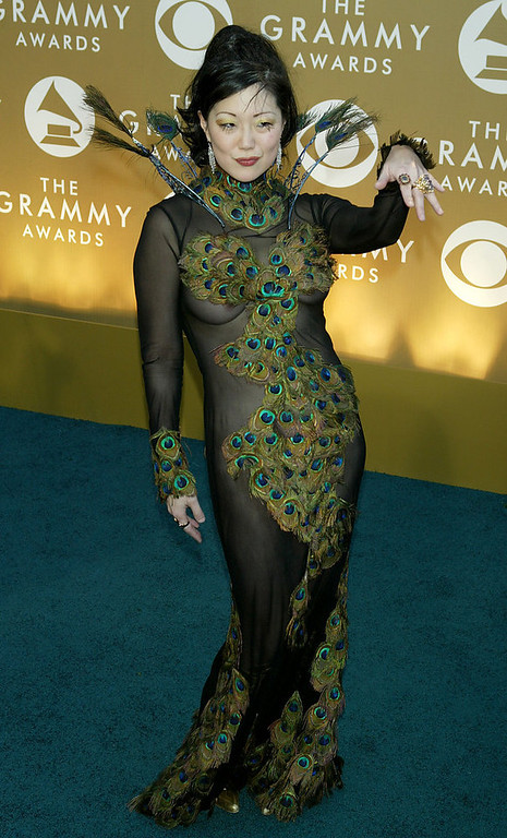 . Comedian Margaret Cho arrives at the 46th Annual Grammy Awards held at the Staples Center on February 8, 2004 in Los Angeles, California.  (Photo by  Kevin Winter/Getty Images)