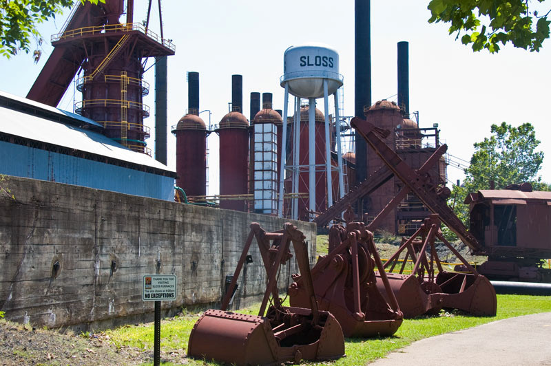I was really puzzled by the spectical... a ghost town of steel where steel was king.