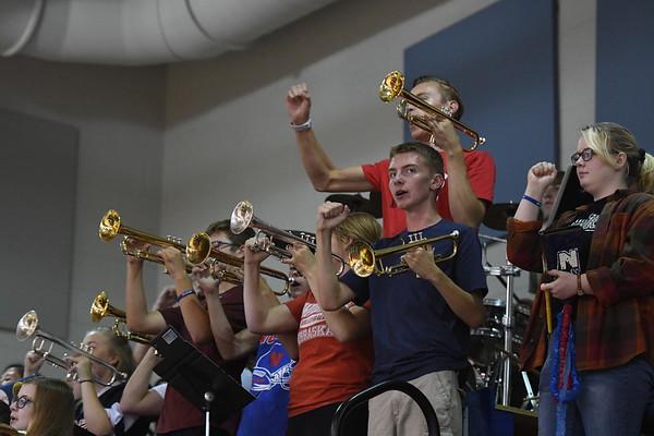 Pep Band at Varsity Volleyball 9-4-18