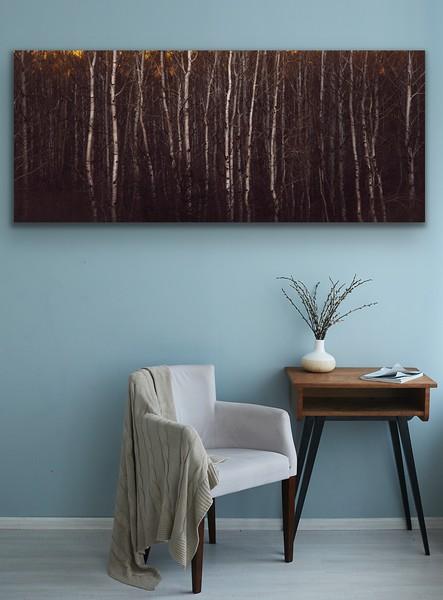 'Evening Aspens' Canvas Wrap or Float Mount Metal Print