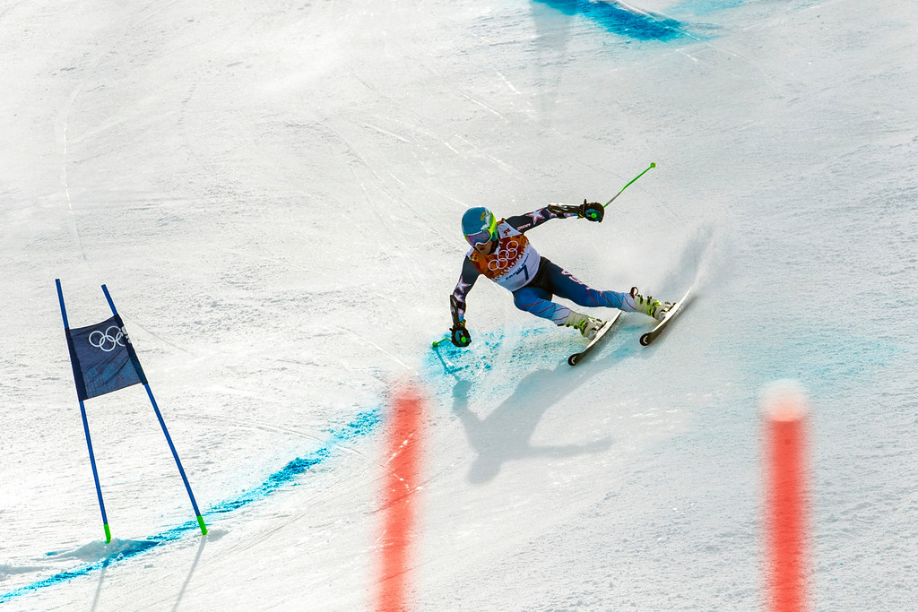 . KRASNAYA POLYANA, RUSSIA  - JANUARY 19: Ted Ligety, of Park City, competes in the Men\'s Giant Slalom at Rosa Khutor Alpine Center during the 2014 Sochi Olympics Wednesday February 19, 2014. LIgety won the gold medal with a cumulative time of 2:45.29. (Photo by Chris Detrick/The Salt Lake Tribune)