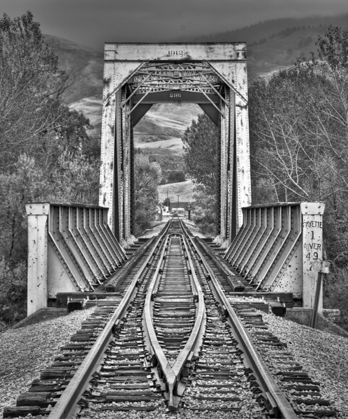 Rail Road Bridge B&W