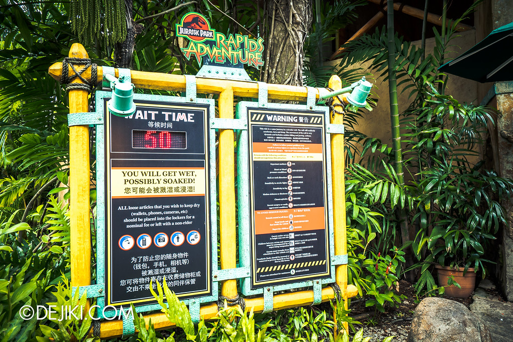 Universal Studios Singapore - Park Update May 2016 / Jurassic Park Rapids Adventure queue