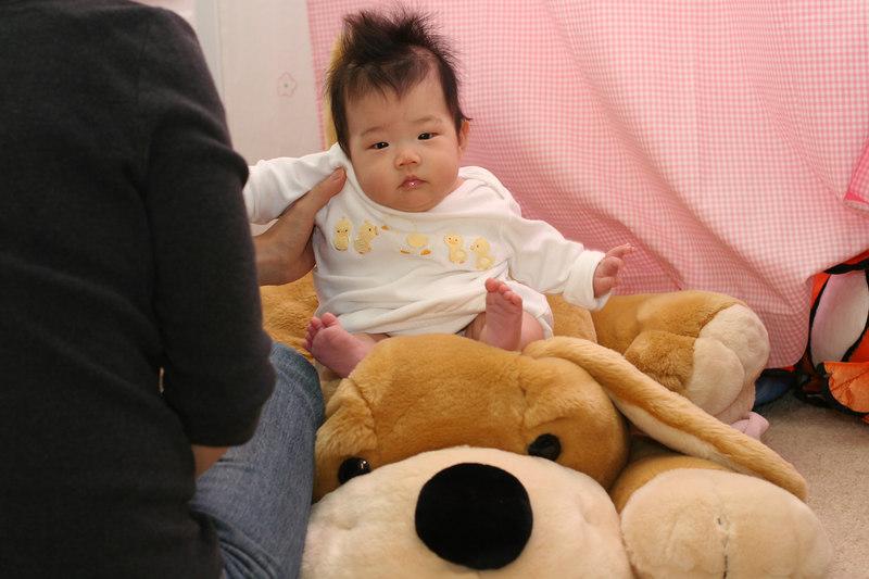Baby with Stuffed dog