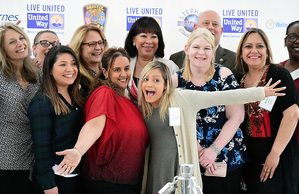 4/11/2019 Mike Orazzi | Staff Staff from the Bristol Housing Authority during Thursday evening's United Way of West Central Connecticut's 17th Annual Community Builders' Reception held at the DoubleTree by Hilton in Bristol.