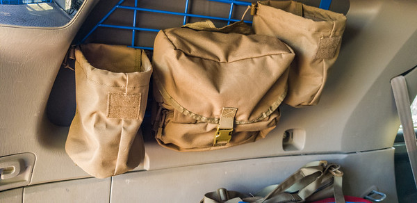 Interior Molle Storage  Racks & Window Shade