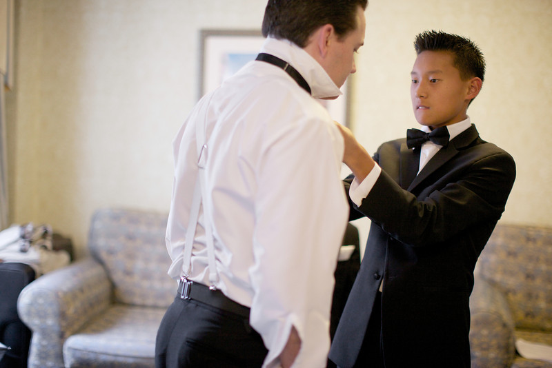 Le Cape Weddings - Chicago Cultural Center Weddings - Kaylin and John - 06 Groom and Groomsmen Getting Ready 27