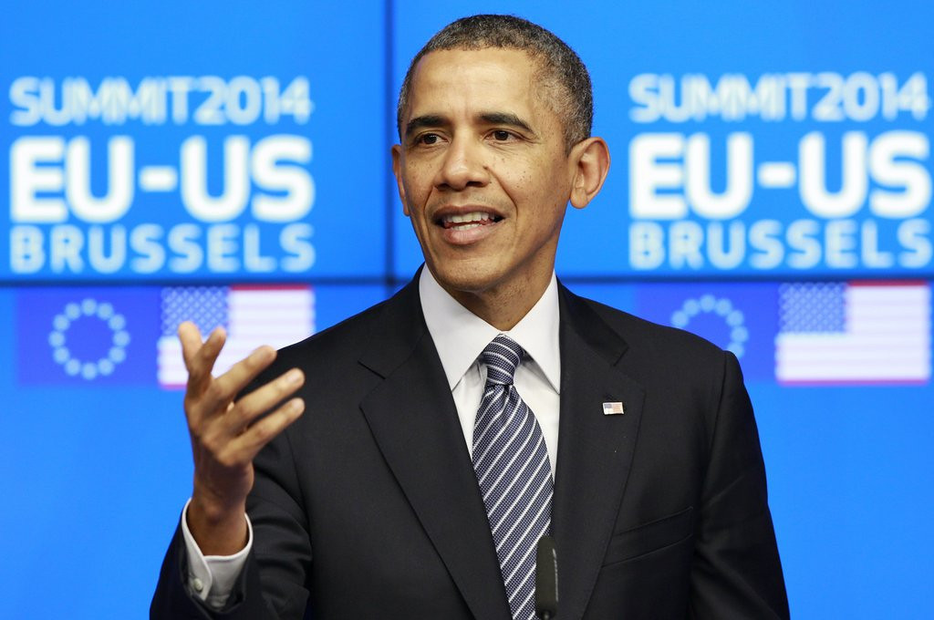 """. <p>4. BARACK OBAMA <p>Says Russia �miscalculated� on Ukraine, thinking it could distract him from his NCAA brackets. (unranked) <p><b><a href=\'http://www.miamiherald.com/2014/03/26/4019901/obama-russia-miscalculated-in.html\' target=\""""_blank\""""> HUH?</a></b> <p>    (AP Photo/Yves Logghe)"""