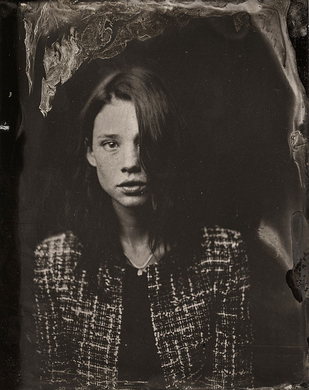 . Astrid Berges-Frisbey   poses for a tintype (wet collodion) portrait at The Collective and Gibson Lounge Powered by CEG, during the 2014 Sundance Film Festival in Park City, Utah. (Photo by Victoria Will/Invision/AP)