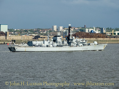 HMS NORTHUMBERLAND F238 arrives on the Mersey - May 18, 2019