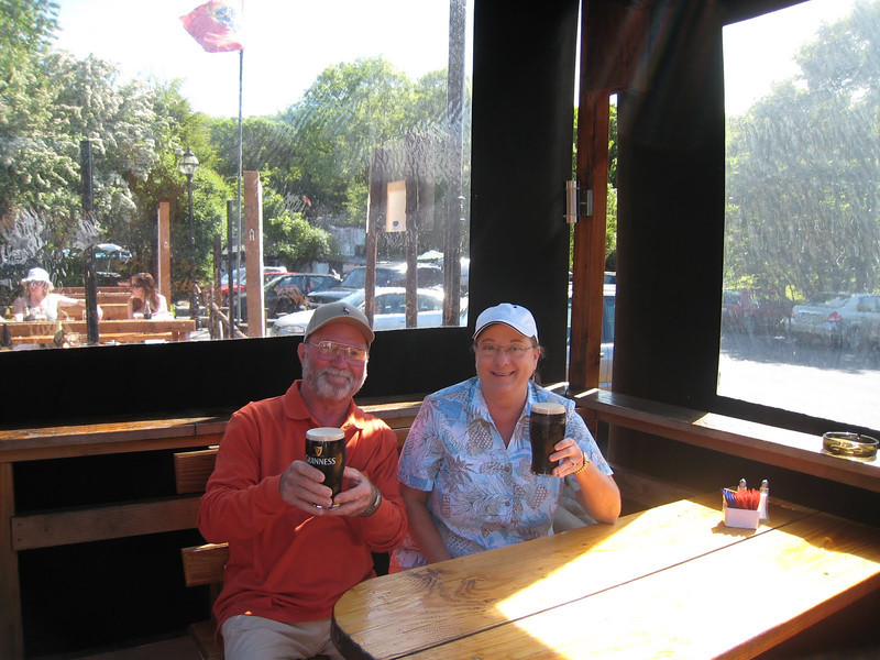 A couple of pints of Guinness at Jack Meade's Pub