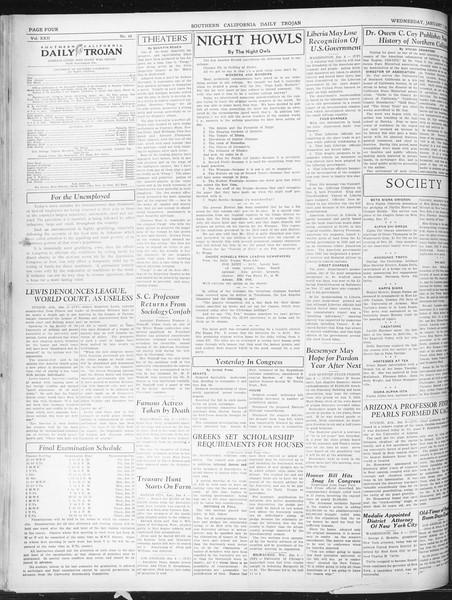Daily Trojan, Vol. 22, No. 68, January 07, 1931