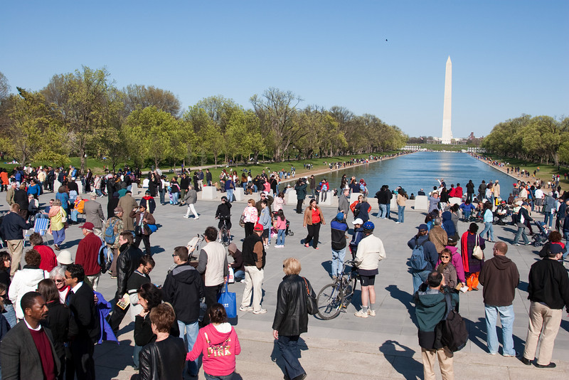 The Lincoln Memorial plaza right after the concert -- Marian Anderson Tribute Concert, Easter Sunday 2009 featuring Denyce Graves (commemorating Easter Sunday 1939) at the Lincoln Memorial