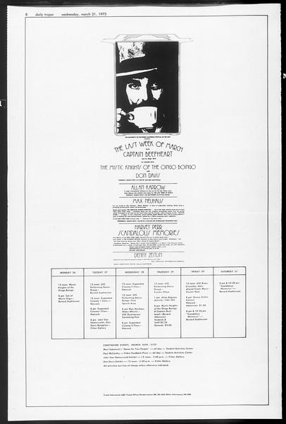 Daily Trojan, Vol. 65, No. 95, March 21, 1973
