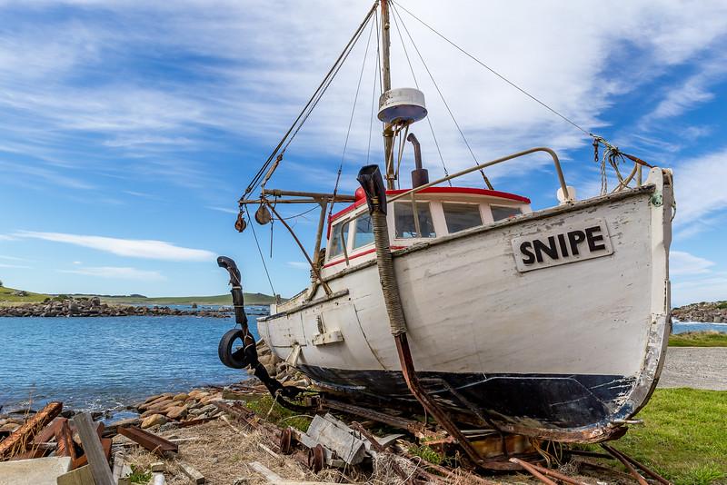 Fischerboot in «Cosy Nook»