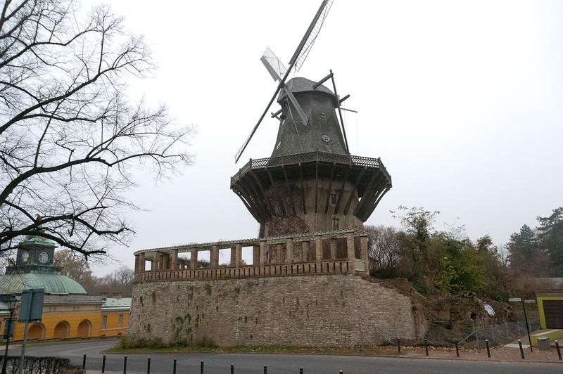 Historic Mill of Sanssouci Park in Potsdam, Germany